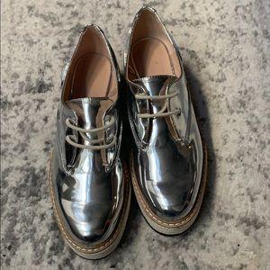 Metallic platform sneakers! (Worn twice)